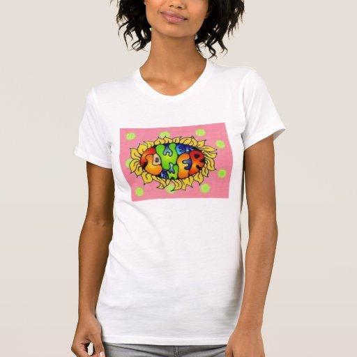 polkadots, flower power camiseta