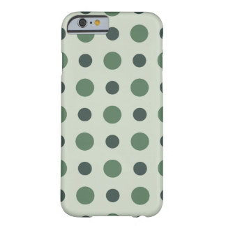 Polkadots Green Barely There iPhone 6 Case