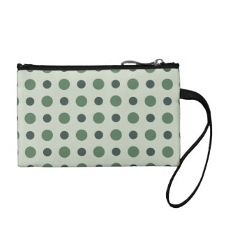 Polkadots Green Change Purse
