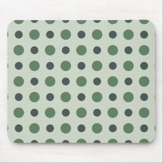 Polkadots Green Mouse Pad