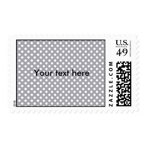 Polkadots grises timbres postales