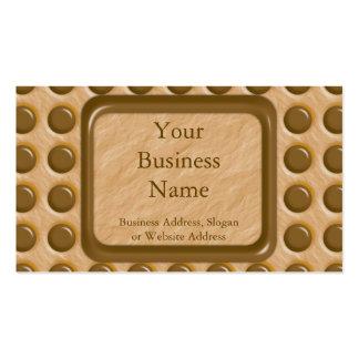 Polkadots - mantequilla de cacahuete del chocolate plantillas de tarjetas de visita