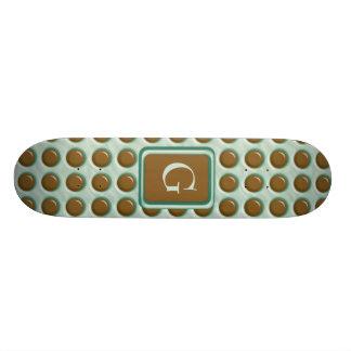 Polkadots - menta del chocolate patinetas personalizadas