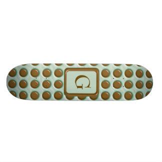 Polkadots - menta del chocolate patin personalizado