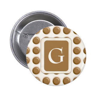 Polkadots - Milk Chocolate and White Chocolate Pinback Buttons