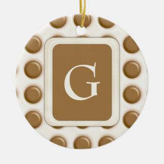 Polkadots - Milk Chocolate and White Chocolate Ceramic Ornament
