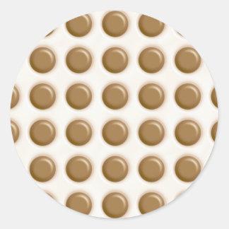 Polkadots - Milk Chocolate and White Chocolate Classic Round Sticker
