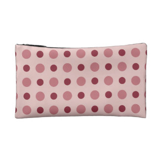 Polkadots Pink Cosmetic Bag