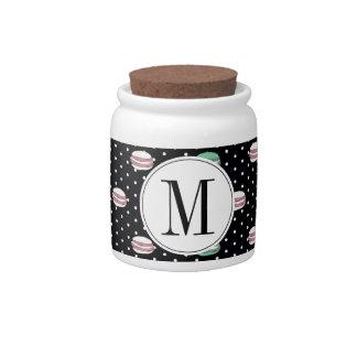 polkadots pink yell owgreen macarons ai candy jars
