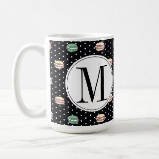 polkadots pink  yell owgreen macarons .ai coffee mug
