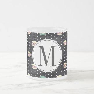 polkadots pink  yell owgreen macarons .ai frosted glass coffee mug
