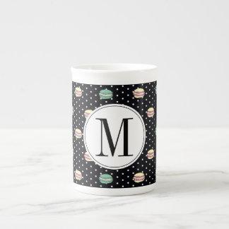 polkadots pink  yell owgreen macarons .ai tea cup