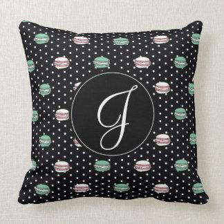 polkadots pink  yell owgreen macarons .ai throw pillow