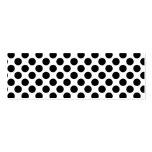 Polkadots retro - negro y blanco plantilla de tarjeta personal