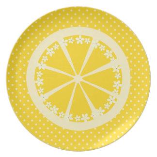 Polkadots y limones platos