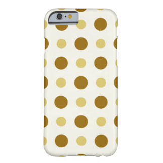 Polkadots Yellow and Brown Barely There iPhone 6 Case
