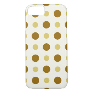 Polkadots Yellow and Brown iPhone 8/7 Case
