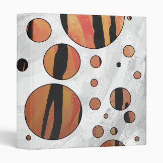 Polks Dot Tiger Hot orange and Black Print Binder