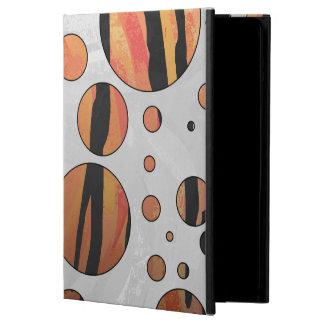 Polks Dot Tiger Hot orange and Black Print Case For iPad Air