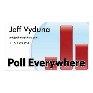 Poll_Everywhere_Logo_Circle_Large, Logo Text Wi... Double-Sided Standard Business Cards (Pack Of 100)