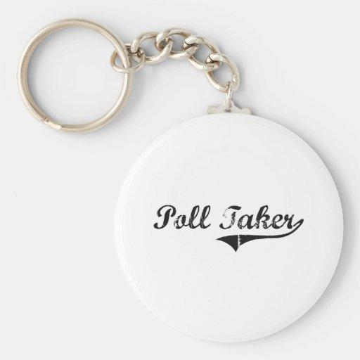 Poll Taker Professional Job Key Chain