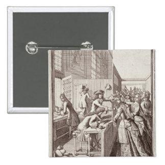 Poll Tax, 1709 Pinback Button