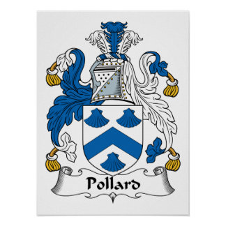 Pollard Family Crest Poster