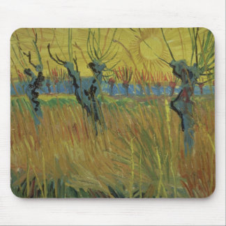 Pollarded Willows and Setting Sun, 1888 Mouse Pad