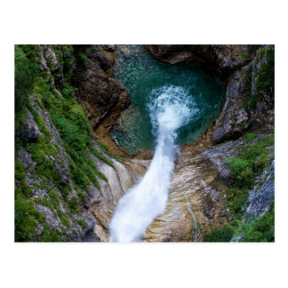 Pollat River Waterfall - Neuschwanstein Castle Postcard