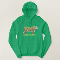 Polled Hereford Embroidered Hoodie
