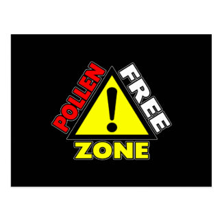 Pollen Free Zone (Hay fever - Allergic Rhinitis) Postcard