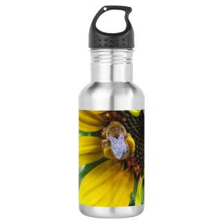 Pollen Loaded Native Bee Stainless Steel Water Bottle