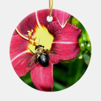 Pollinating Bee Christmas Tree Ornament