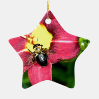 Pollinating Bee Ornament