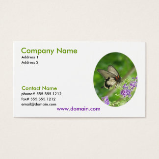Pollinating Butterfly Business Card