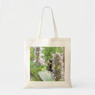 Pollination – Bumblebee on Agastache Canvas Bag