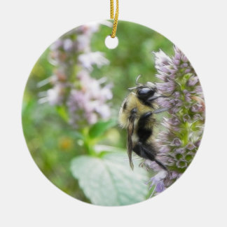 Pollination – Bumblebee on Agastache Christmas Tree Ornament