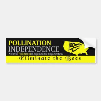 pollination independence bumper sticker