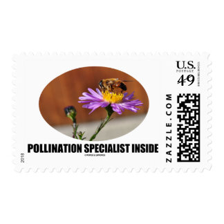 Pollination Specialist Inside (Bee On A Flower) Postage Stamp