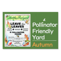 Pollinator Friendly Yard Sign - Autumn
