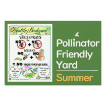 Pollinator Friendly Yard Sign - No Spray