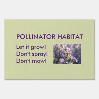 Pollinator Habitat Signs