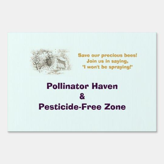 Pollinator Haven Yard Sign