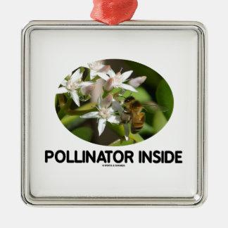 Pollinator Inside (Bee On White Flower) Ornament