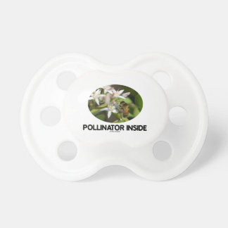 Pollinator Inside (Bee On White Flower) Pacifier