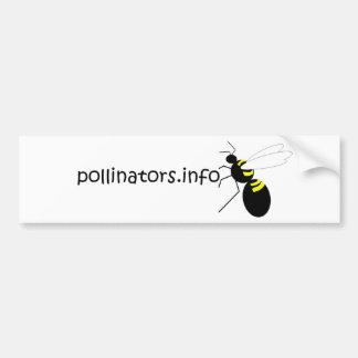 pollinators.info bumper sticker