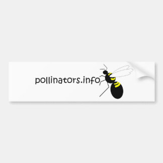 pollinators.info bumper sticker car bumper sticker