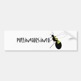 pollinators.info bumper sticker 2 car bumper sticker