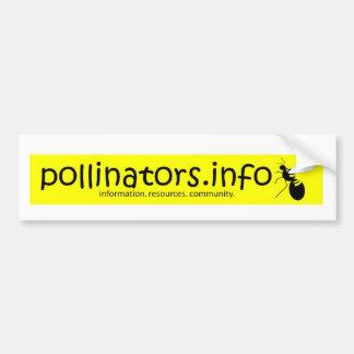 pollinators.info bumper sticker 3 car bumper sticker