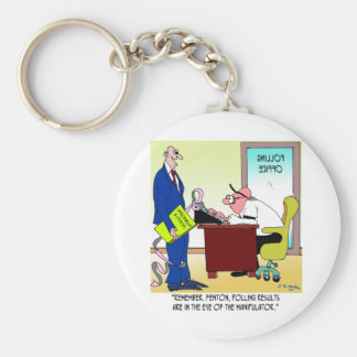 Polling Cartoon 8784 Keychain